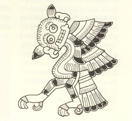 ボルジア絵文書のフクロウ