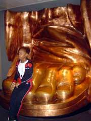 写真 自由の女神の足 Augustt 2005 撮影