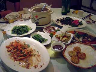 夕食の様子 April 2006 撮影